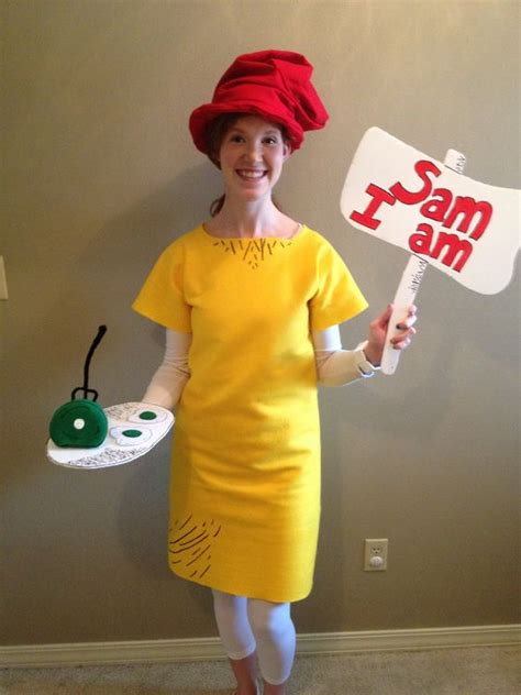 dr seuss diy costumes sam i am costume for the last day of dr seuss week felt and fabric puff paint played