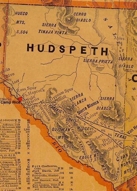 hudspeth county texas map fort hancock texas