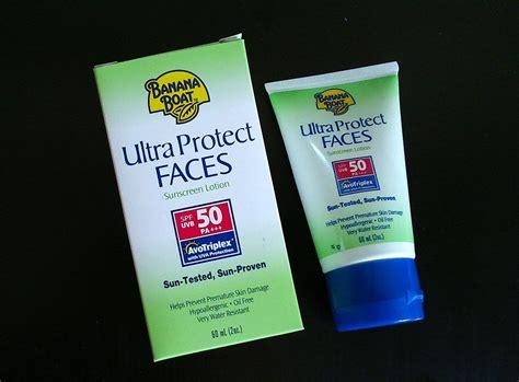 banana boat sunscreen quality banana boat ultra protect faces sunscreen lotion spf50 pa