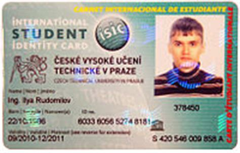 isic card template international student identity card
