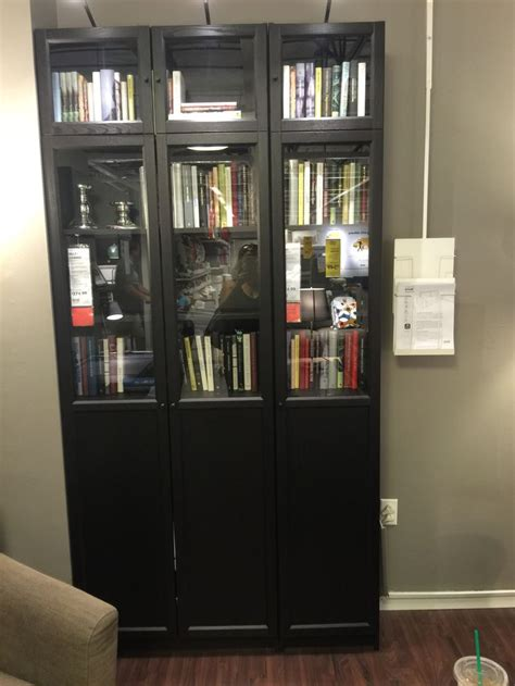 billy bookcase with glass doors 17 best images about condo on oak cabinets