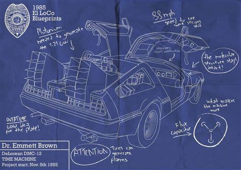 delorean blueprint back to the future delorean blueprint lover