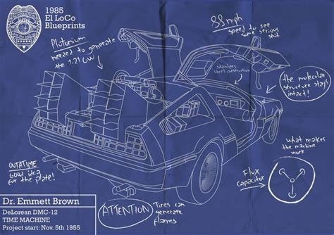 delorean time machine blueprints back to the future delorean blueprint lover
