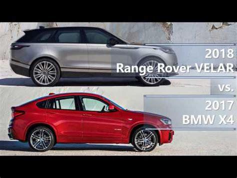 2018 range rover velar vs. 2017 bmw x4 technical