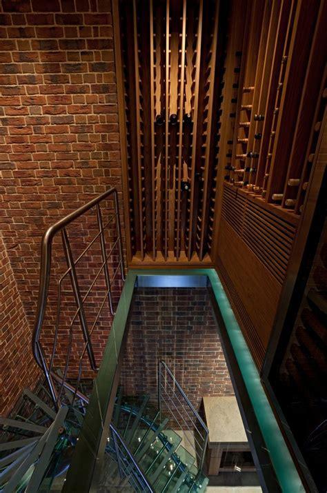 modern wine rack Wine Cellar Modern with basement built in