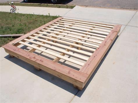 woodwork platform bed frame plans king  plans