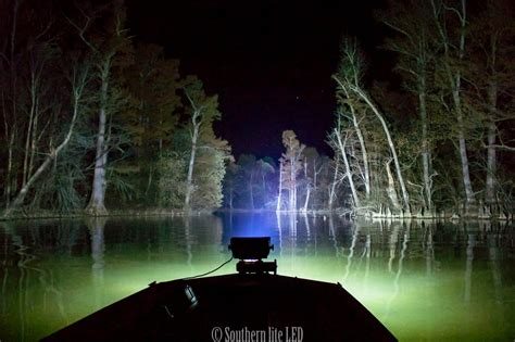 driving your boat at night duck boat led light with wide 12 000 lumen southern lite led
