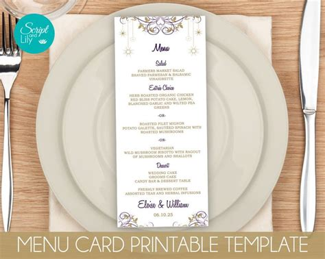 pages template menu card 372 best instant downloadable edit and print digital