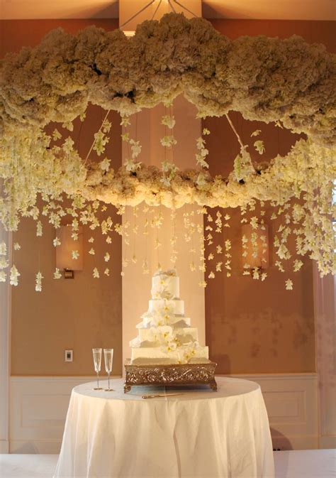 suspended wedding centerpieces floral chandeliers