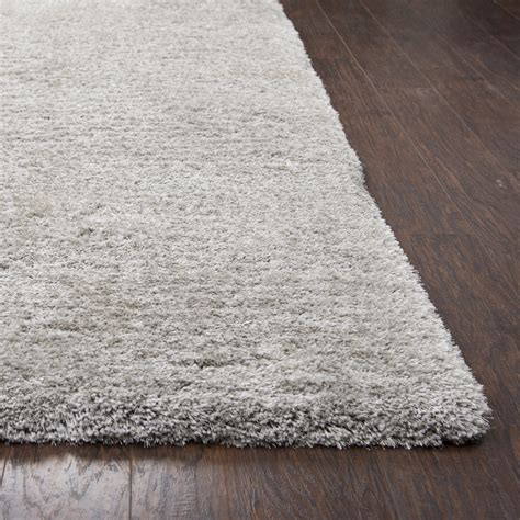 plush silver rug commons plush tufted area rug in solid silver 5 x 8