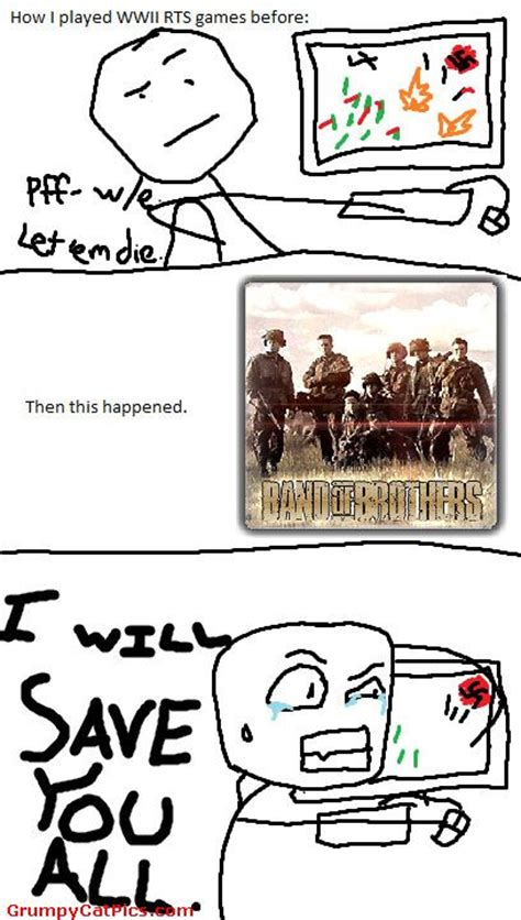 Funny Comic Memes - the band of brothers effect funny meme comics picture