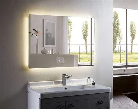 bathroom backlit mirror backlit mirror led bathroom mirror anzo iii