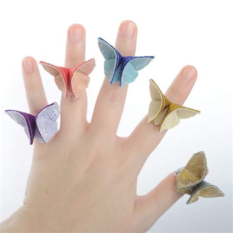 Ring Origami - free coloring pages how to make origami butterfly ring