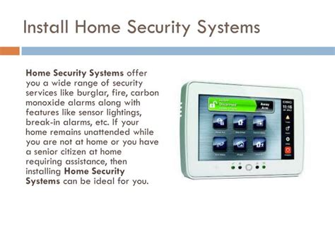 ppt residential home security powerpoint presentation