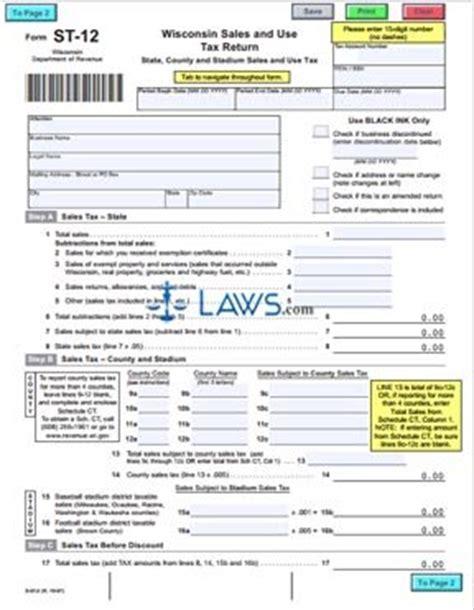 sales tax return format form st 12 sales and use tax return sales tax forms