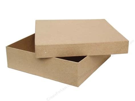 Paper Boxes With Lids - paper mache square chipboard box by craft pedlars 6