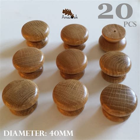 wooden knobs for kitchen cabinets 20 x wooden oak kitchen door knobs handles cabinet