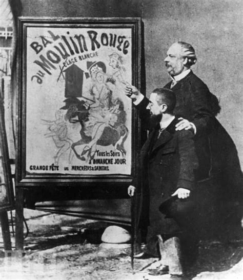 ba toulouse lautrec espagnol french painter toulouse lautrec stands near one of his famous posters with the director of the