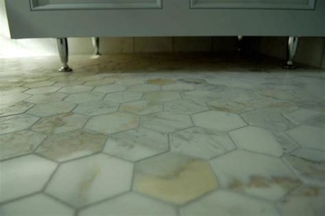 calcutta gold marble hex floor contemporary bathroom design and style interiors
