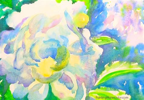 watercolor tutorial peony white peony watercolor painting tutorial