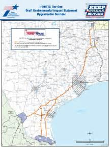 i 69 corridor map i 69 draft environmental impact statement