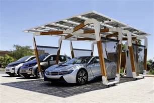 Car Port Design by Bmw Reimagines The Home Garage As A Solar Powered Carport