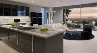 exclusive kitchen design modern luxury kitchen with polished marble countertop and dark grey high gloss cabinets also