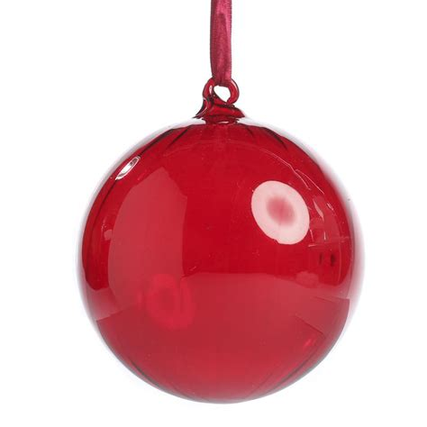 large red swirl glass ball ornament christmas ornaments