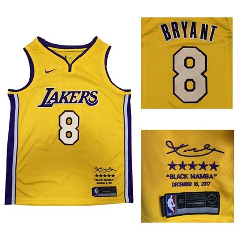 Jersey Authentic Nike Bryant Lakers Black Nba Stitched Jersey Sz swingman bryant lakers jersey 8 nike nba s gold