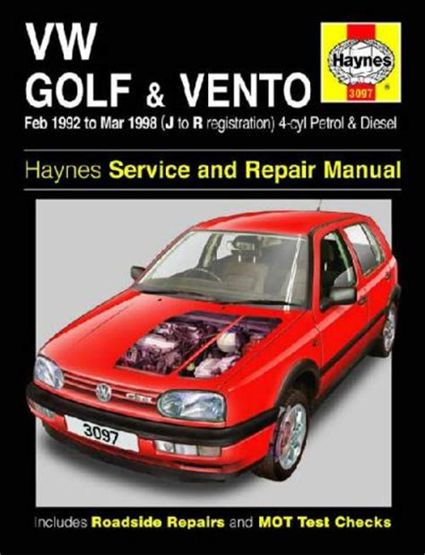 volkswagen golf vento petrol diesel 1992 1998 sagin workshop car manuals repair books