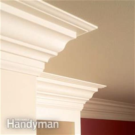 how to install crown molding on top of kitchen cabinets how to install crown molding family handyman