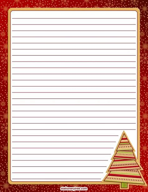 printable christmas writing paper stationery printable christmas stationery and writing paper free pdf