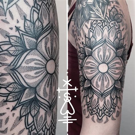 random sleeve tattoo designs mandala dotwork best ideas gallery