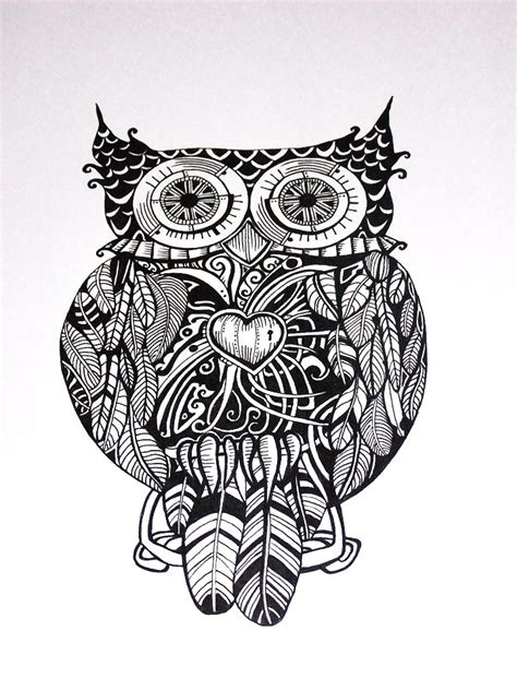 owl heart coloring page 17 best images about buhos 01 colorear on pinterest