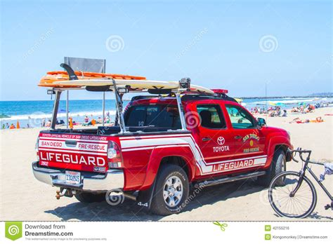 truck on lifeguard truck on the editorial photo image 42155216