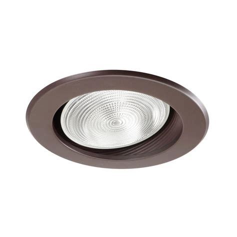 Sloped Ceiling Recessed Lighting Trim Nicor 6 In Rubbed Bronze Recessed Baffle Trim For Sloped Ceiling 17711ob Ob The Home Depot