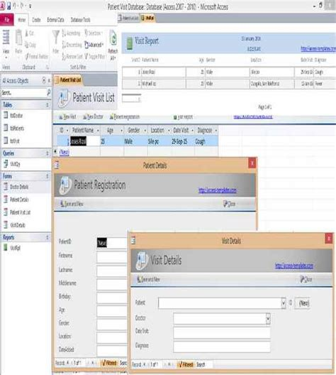 ms access 2010 templates free download dagorpaint