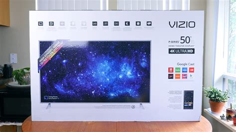 visio p series vizio p series 4k hdr home theater display unboxing phonedog