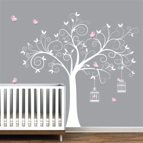 fdfabfeadcaa inspirational white tree wall decals nursery