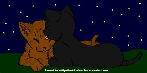 Crowfeather and Leafpool by DemonicVampyreWolf on DeviantArt Leafpool And Crowfeather Mating