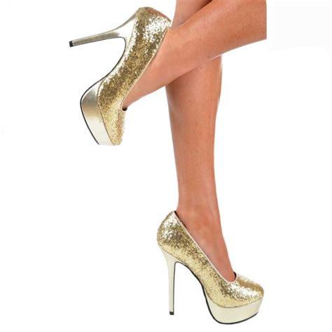 metallic silver high heels shoekandi platform high heels glitter and metallic