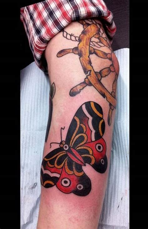 butterfly tattoo above elbow 37 traditional elbow tattoos ideas