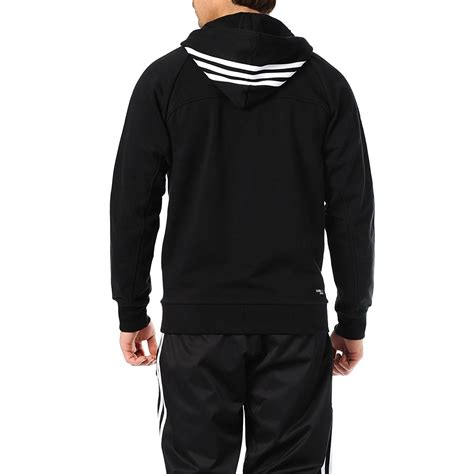Hoodie Sweater adidas performance mens zip 3 stripe hoodie sweater