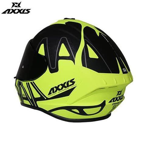 axxis kask draken dekers motosiklet kaski mat siyah neon yesil