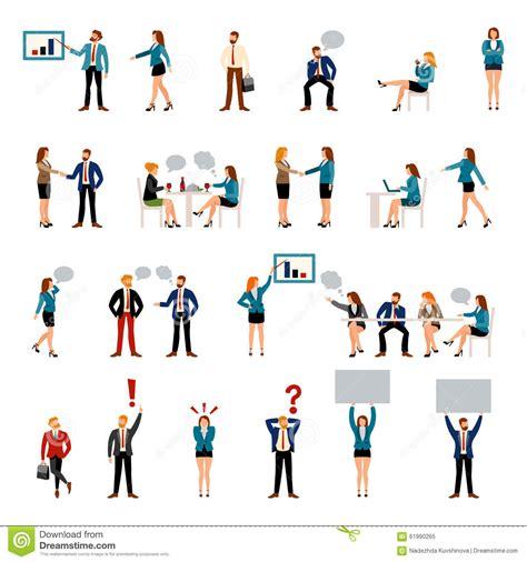 flat style business people figures icons stock illustration image