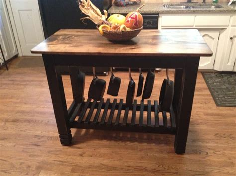 kitchen island table with storage 24 x 48 hand built kitchen island with pots pans