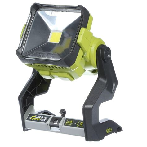 battery led work light ryobi 18 volt one dual power 20 watt led work light tool