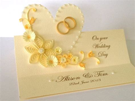Handmade Wedding Cards Designs - quilling handmade wedding invitation and greeting card