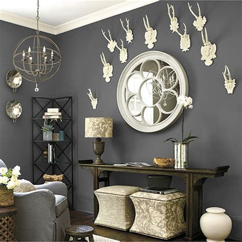 Ballard Designs Christmas decorating with deer heads and antlers real and whimsical
