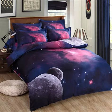 space bed sheets 2016 new 4 3pcs galaxy 3d bedding sets universe outer